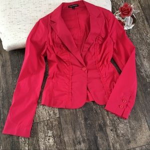 Express Design Studio Red Crop Blazer. Size 4